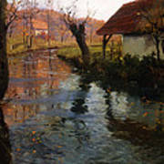 The Mill Stream Poster by Fritz Thaulow