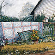 The Old Quilt Poster by Michael Humphries