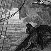 The Rain Begins To Fall Poster by Gustave Dore