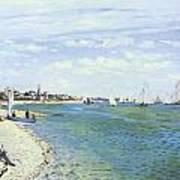 The Regatta At Sainte-adresse Poster by Claude Monet