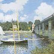 The Road Bridge At Argenteuil Poster by Claude Monet