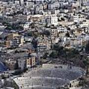 The Roman Theatre In The Middle Of The City Of Amman Jordan Poster by Robert Preston