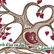 The Roots Of Love Poster by Minnie Lippiatt