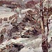 The Russians Fighting Their Way Over The Carpathians Poster by Cyrus Cuneo