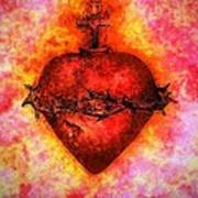 The Sacred Heart Of Jesus Christ Poster by Annie Zeno