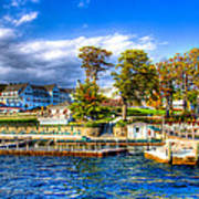 The Sagamore Hotel On Lake George Poster by David Patterson
