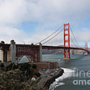 The San Francisco Golden Gate Bridge - 5d18909 Poster by Wingsdomain Art and Photography