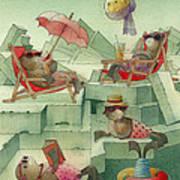 The Seal Beach Poster by Kestutis Kasparavicius
