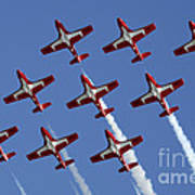 The Snowbirds Keeping It Tight Poster by Bob Christopher