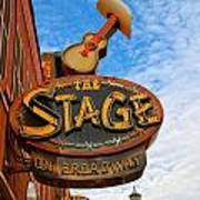 The Stage On Broadway Poster by Dan Sproul