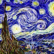 The Starry Night Reimagined Poster by Adam Romanowicz