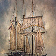 The Tall Ship Peacemaker Poster by Dale Kincaid