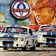 The Thundering Blue Stripe Gt-350 Poster by David Lloyd Glover
