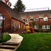 The Tke House On The Wsu Campus Poster by David Patterson