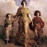 The Virgin Poster by Abbott Handerson Thayer