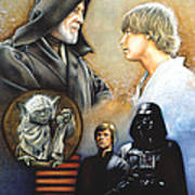 The Way Of The Force Poster by Edward Draganski