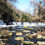 The Wissahickon Creek In February Poster by Bill Cannon