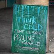 Think Cold Poster by Brenda Bryant