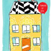 Thinking Of You Card Poster by Linda Woods