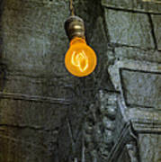 Thomas Edison Lightbulb Poster by Susan Candelario