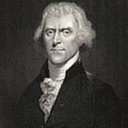 Thomas Jefferson Poster by English School