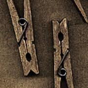 Three Clothes Pins Poster by Bob RL Evans