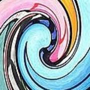 Three Swirls Poster by Helena Tiainen