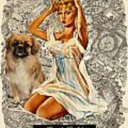 Tibetan Spaniel Art - Una Parisienne Poster by Sandra Sij