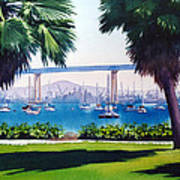 Tide Lands Park Coronado Poster by Mary Helmreich
