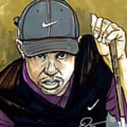 Tiger Woods Poster by Dave Olsen