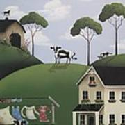 Till The Cows Come Home Poster by Catherine Holman