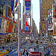 Time Square New York 20130430 Poster by Wingsdomain Art and Photography