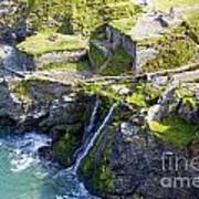 Tintagel Waterfalls Poster by Rod Jones