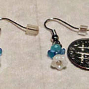Tiny Angel Earrings Poster by Kimberly Johnson