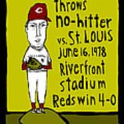 Tom Seaver Cincinnati Reds Poster by Jay Perkins