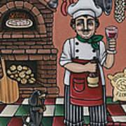 Tommys Italian Kitchen Poster by Victoria De Almeida