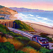 Torrey Pines Commute Poster by Mary Helmreich