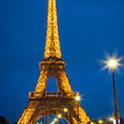 Tour Eiffel De Nuit Poster by Inge Johnsson
