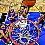 Tracy Mcgrady Painting Poster by Florian Rodarte