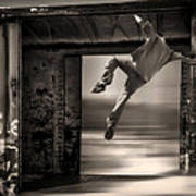 Train Jumping Poster by Bob Orsillo