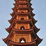 Tran Quoc Pagoda In Hanoi Poster by Sami Sarkis