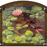 Tranquil Moments With Gold Leaf By Vic Mastis Poster by Vic  Mastis