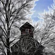 Tree House Poster by Steve McKinzie