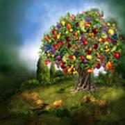 Tree Of Abundance Poster by Carol Cavalaris