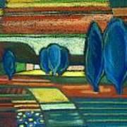 Trees Of Blue Poster by Gergana Valkova
