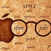 Tribute To Steve Jobs 2 Digital Art Poster by Georgeta  Blanaru