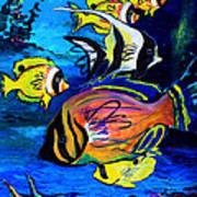 Tropical Fish Poster by Karon Melillo DeVega