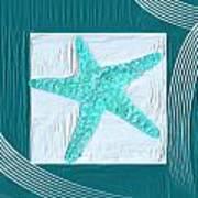 Turquoise Seashells Xvi Poster by Lourry Legarde