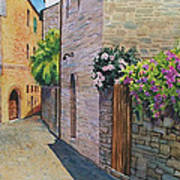 Tuscan Alley Poster by Marguerite Chadwick-Juner