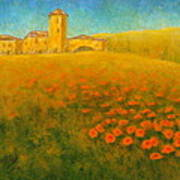 Tuscan Gold 1 Poster by Pamela Allegretto